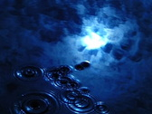 Stock Video Footage of Sky Reflections on Water Blue 1 Water Drops & Ripples Loop