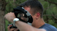 Stock Video Footage of Soliders Gas Mask 683
