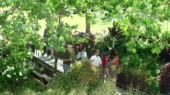 Garden Pathway Stock Footage