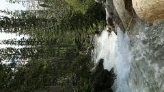 Waterfall mountain stream verticle P HD 0663 - stock footage