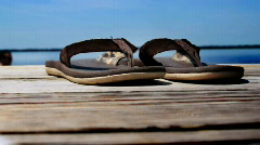 Beach Sandals 729 Stock Footage