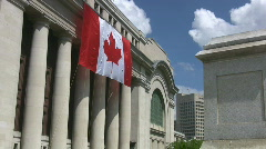 Canada Flag Zoom Stock Footage
