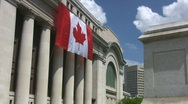 Stock Video Footage of Canada Flag Zoom