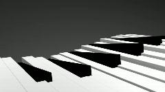 3d Piano keys Stock Footage