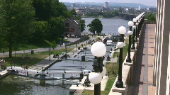 Rideau Canal Locks At The Chateau Laurier Downtown Ottawa Canada Stock Footage