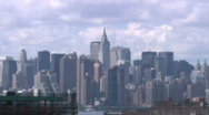Stock Video Footage of Time Lapse, Clouds, New York City Skyline