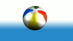 Beach Ball Spinning Stock Footage