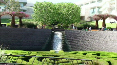 Getty Center Waterfall - stock footage