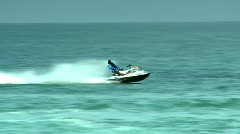 Jet-Ski rider - stock footage