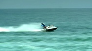 Stock Video Footage of Jet-Ski rider