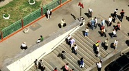 Timelapse people are coming to metro HD 1920 x 1080 Stock Footage