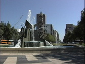 Stock Video Footage of Australia Fountain Adelaide