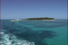 Australia Green Island from ferry Stock Footage