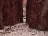 Stock Video Footage of -Australia Hikers in Standley Chasm