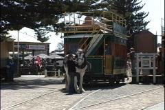 Australia Horse & trolly Victor Harbor Stock Footage
