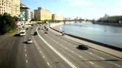 Tilt-shift Footage with time lapse - stock footage