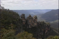 Australia Three Sisters Blue Mountains Stock Footage