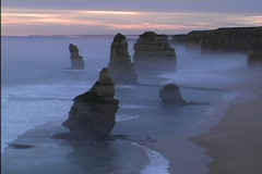 Australia Twelve Apostles evening Stock Footage