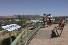 Australia Viewing Alice Springs Stock Footage