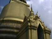 Stock Video Footage of Bangkok Gilded pagoda Wat Pra Keo