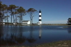 Bodie Island Lighthouse North Carolina Stock Footage