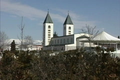 Bosnia Church Medjugorje Stock Footage