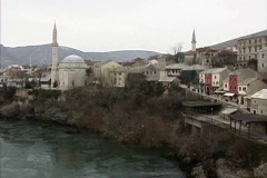 Bosnia Neretva in Mostar Stock Footage