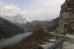 Bosnia Road by Neretva Stock Footage