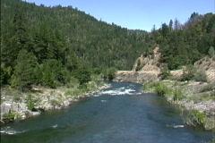 CA Coast range river Stock Footage