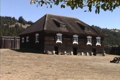 California Fort Ross buildings Stock Footage