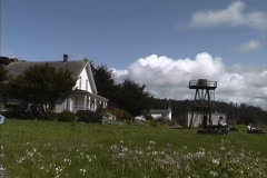 CA Mendocino houses Stock Footage