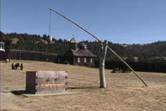 CA Russian Fort Ross Stock Footage