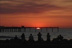 CA San Diego sunset Stock Footage