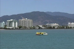 View of Cairns Australia from ferry Stock Footage