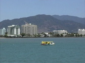 Stock Video Footage of View of Cairns Australia from ferry