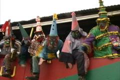 Cajun Mardi Gras maskers  Stock Footage