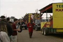 Cajun Mardi Gras parade Stock Footage