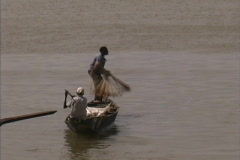 Casting net Mali - stock footage