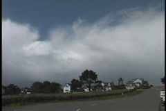 Cloud over Mendocino Stock Footage