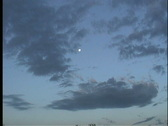 Clouds and moon Stock Footage