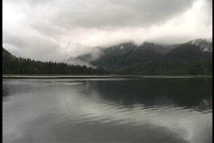 Clouds, mountains, water Alaska - stock footage