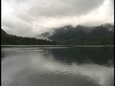 Clouds, mountains, water Alaska Stock Footage