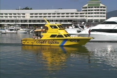 Coast Guard boat Cairns Stock Footage