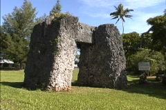 Coral stone trilithon Tonga Stock Footage