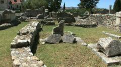Croatia Salona writing on stone Stock Footage