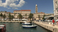 Stock Video Footage of Croatia Split small boat harbor