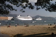 Cruise ships Acapulco - stock footage