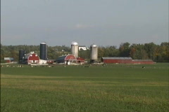 Dairy farm VT Stock Footage