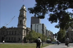 Downtown Adelaide Stock Footage