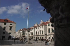 Dubrovnik Fountain frames Luza square Stock Footage